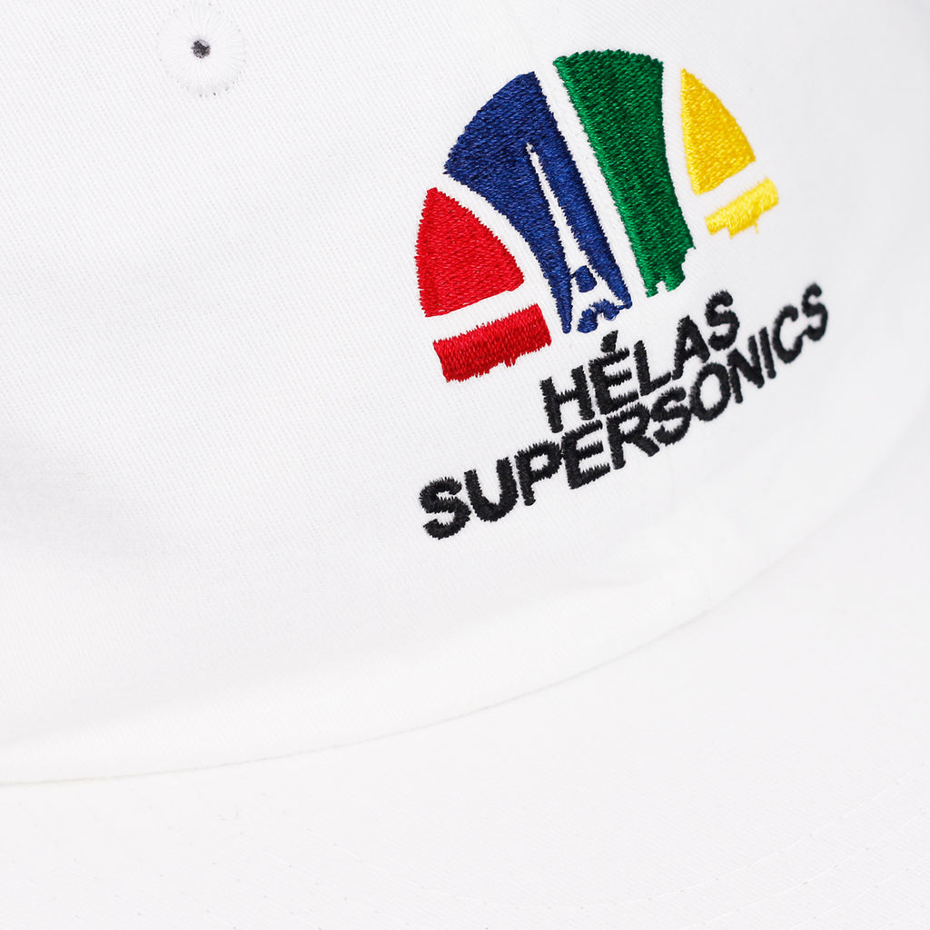 Helas Supersonics 6 Panel Cap in White - Detail