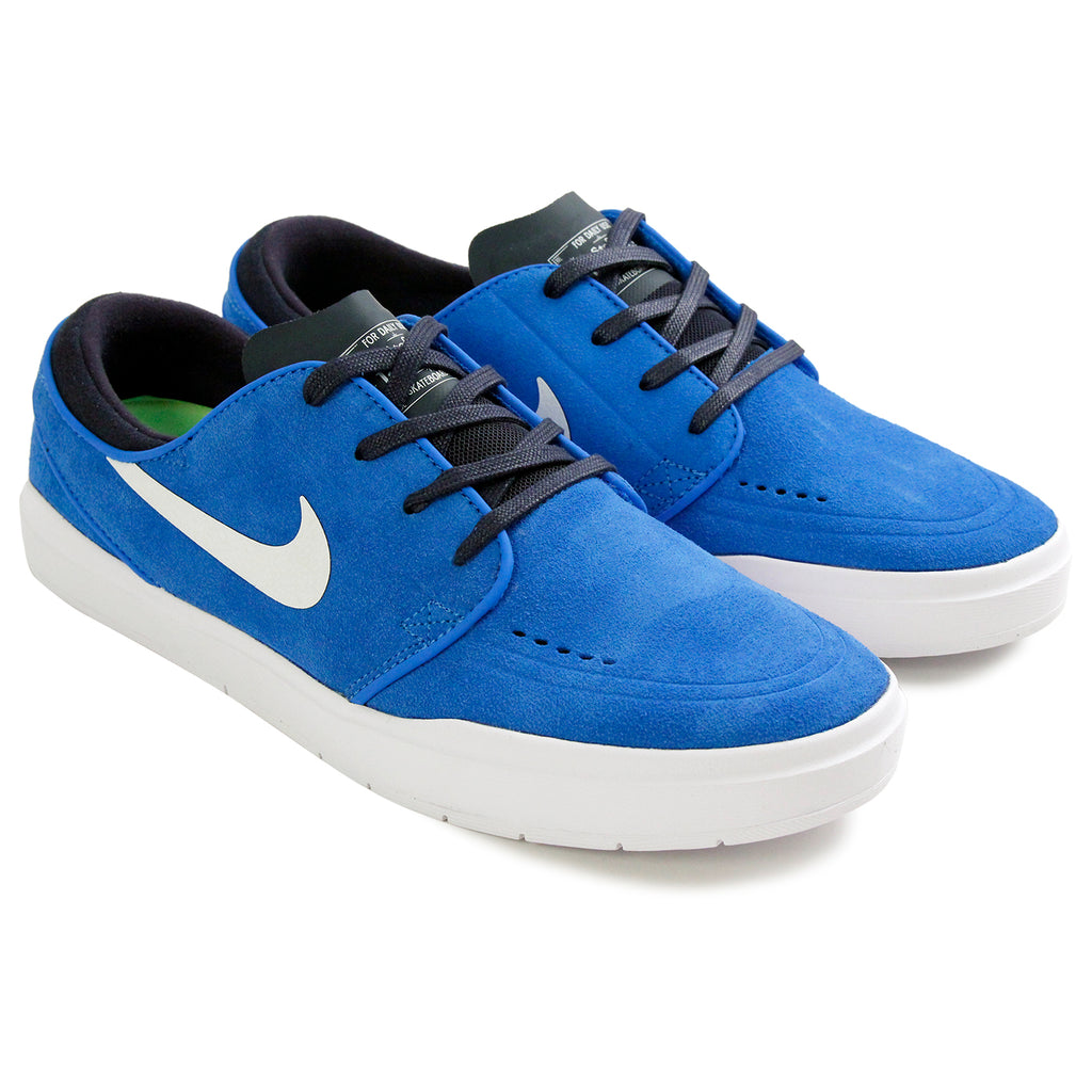 Nike SB Janoski Hyperfeel Shoes in Photo Blue / White-Obsidian - Pair