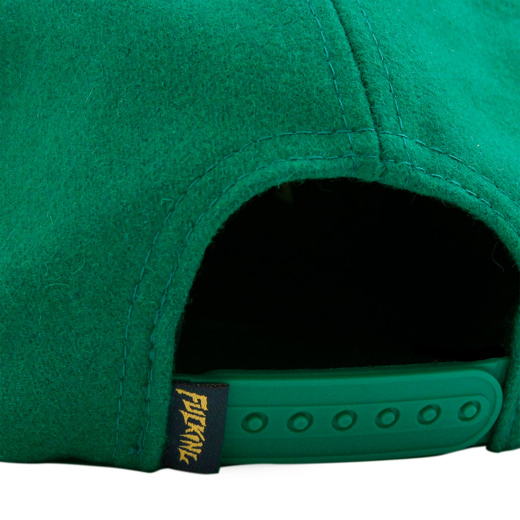 Fucking Awesome Classic Logo Wool Snapback in Green - Snap Closure