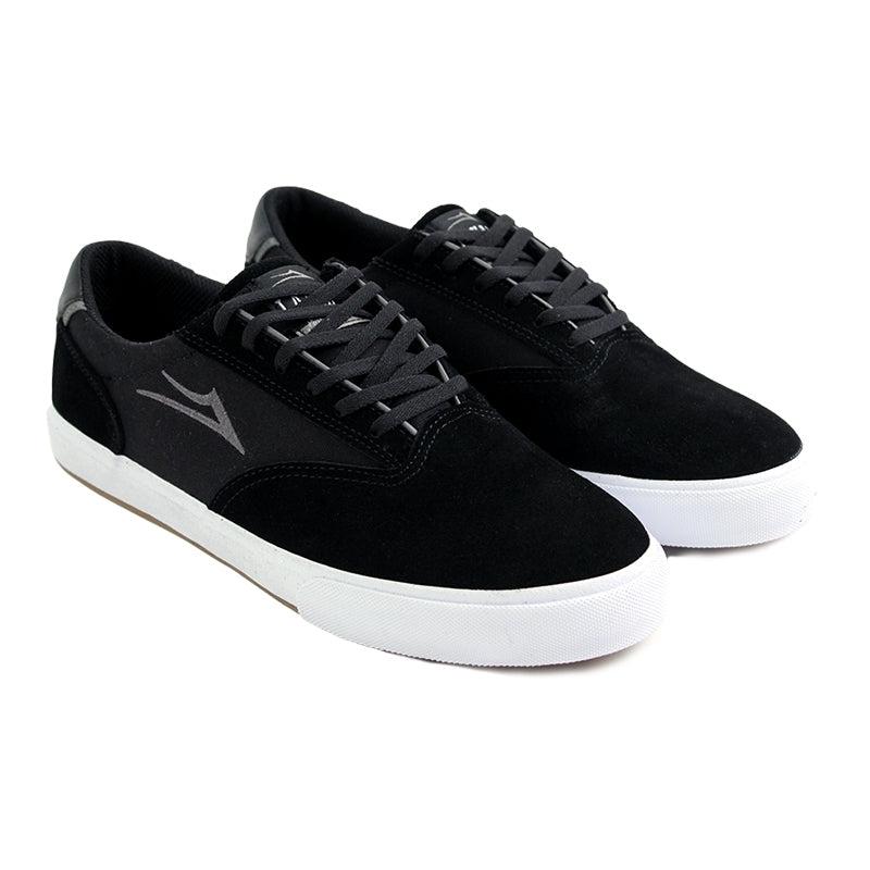 Lakai Guymar in Black / White Suede - Pair