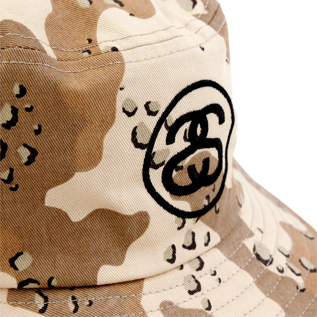Stussy SS Link Bucket Hat in Desert Camo - Detail