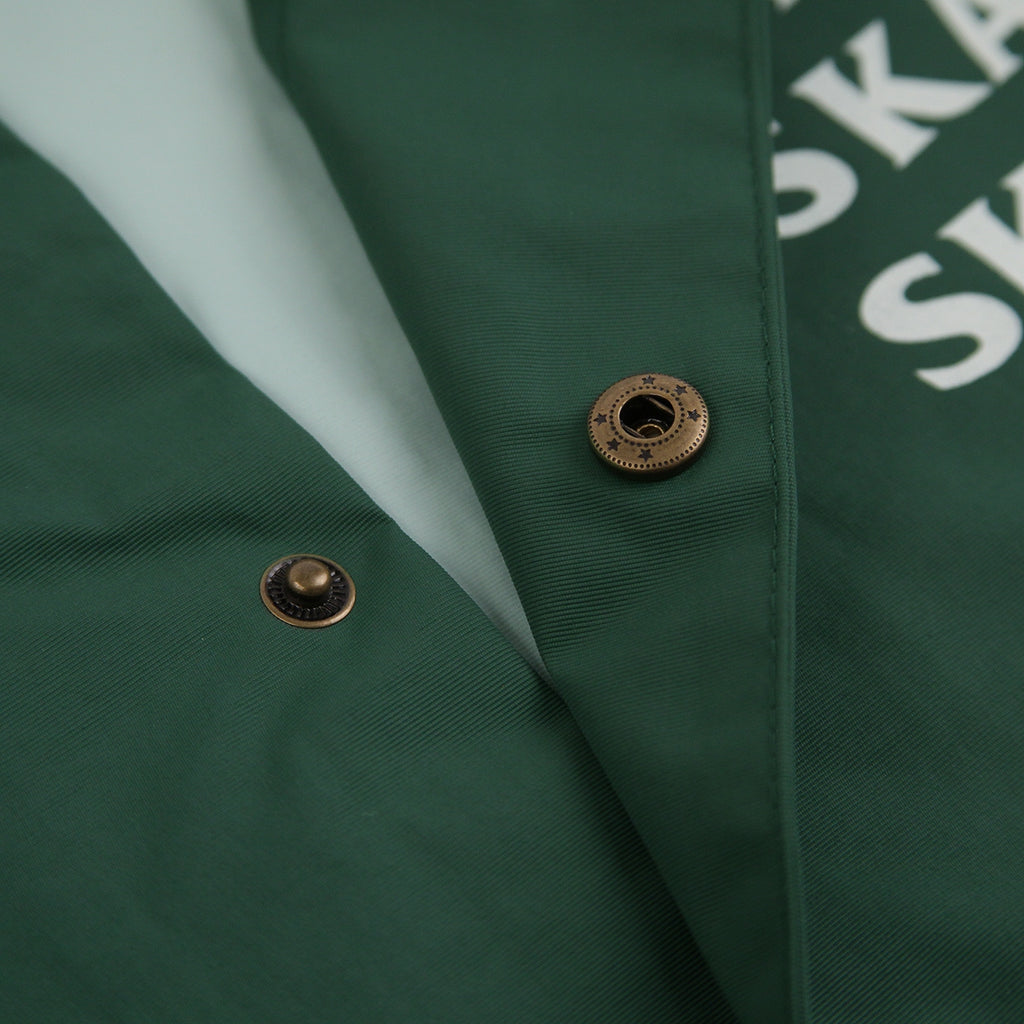 Bored of Southsea Anti Skate Club Coaches Jacket in Forest Green - Popper