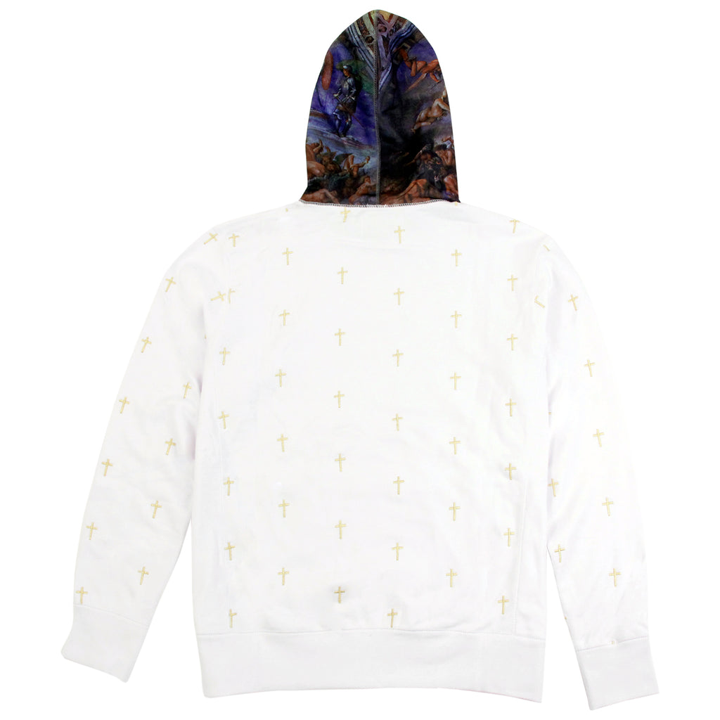 Fucking Awesome Crosses Hoodie in White - Back