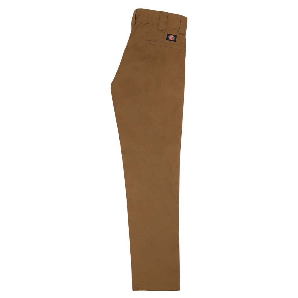 Dickies 873 Slim Straight Work Pant in Brown Duck - Leg