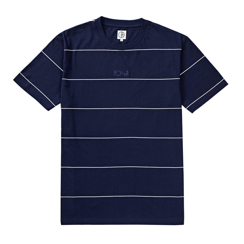 Polar Skate Co Striped T Shirt in Navy