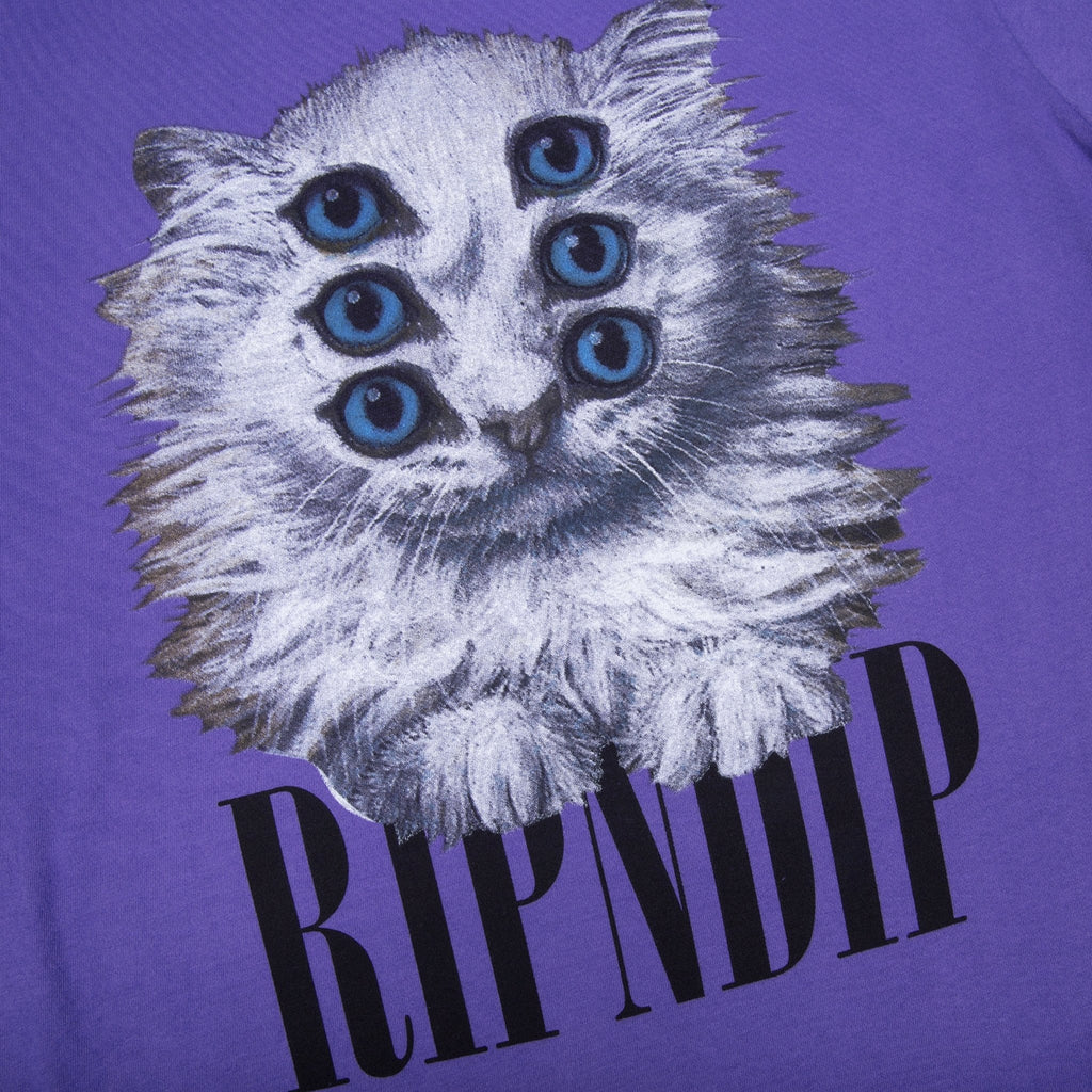 RIPNDIP Triplet T Shirt in Purple - Detail
