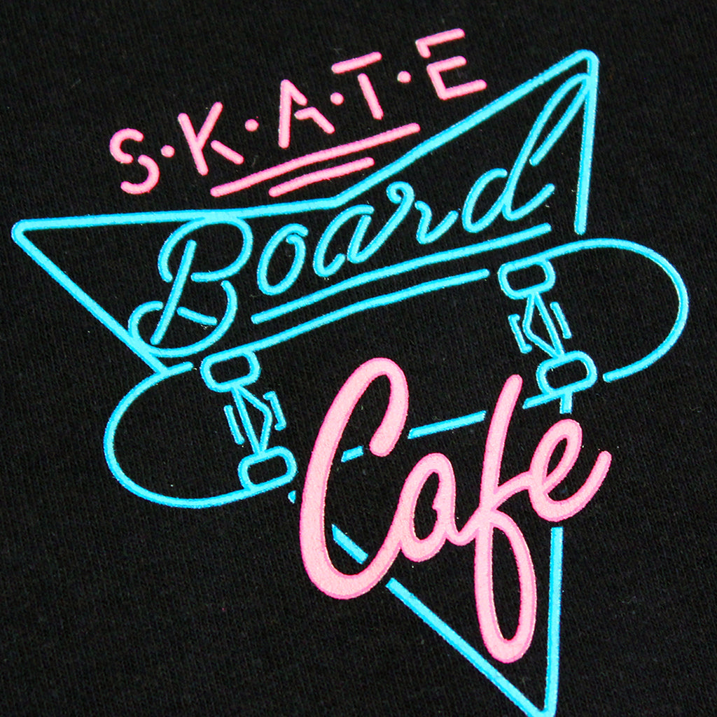 Skateboard Cafe Neon Cup L/S T Shirt in Black - Print