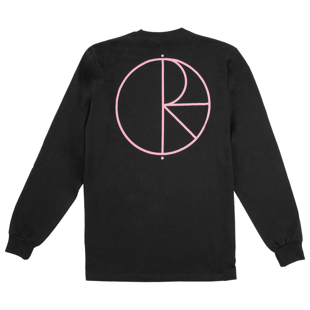 Polar Skate Co Stroke Logo L/S T Shirt in Black / Pink