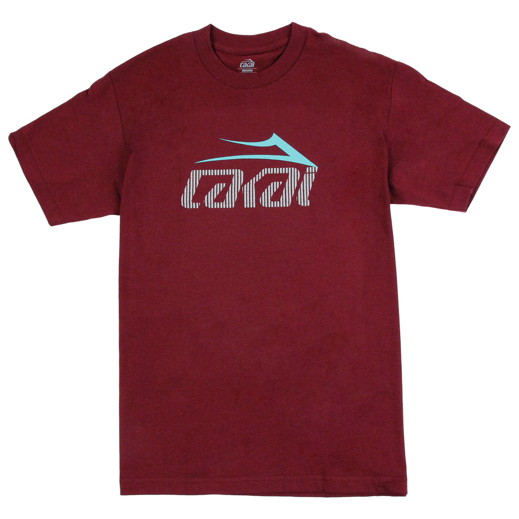 Lakai Tonal Tech T Shirt in Burgundy