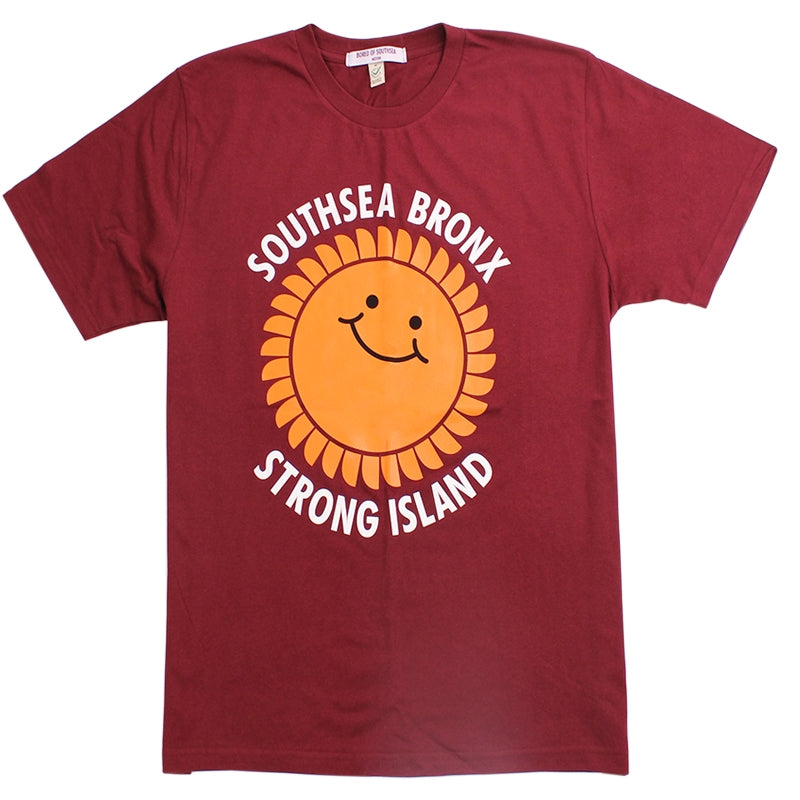 Southsea Bronx Strong Island T Shirt in Burgundy