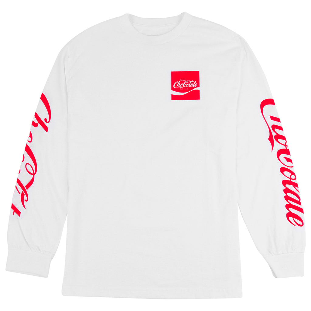 Chocolate Skateboards Cola L/S T Shirt in White