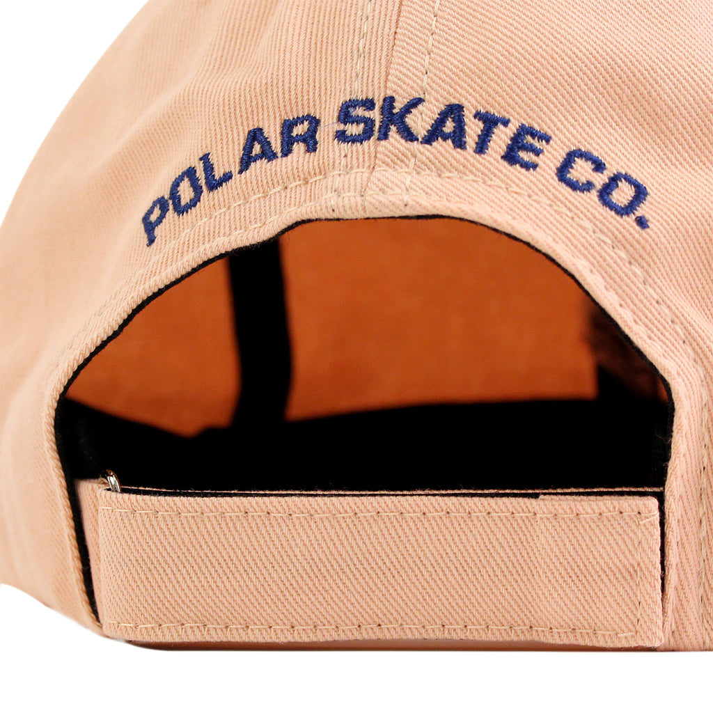 Polar Skate Co No Comply Cap in Peach / Navy - Back