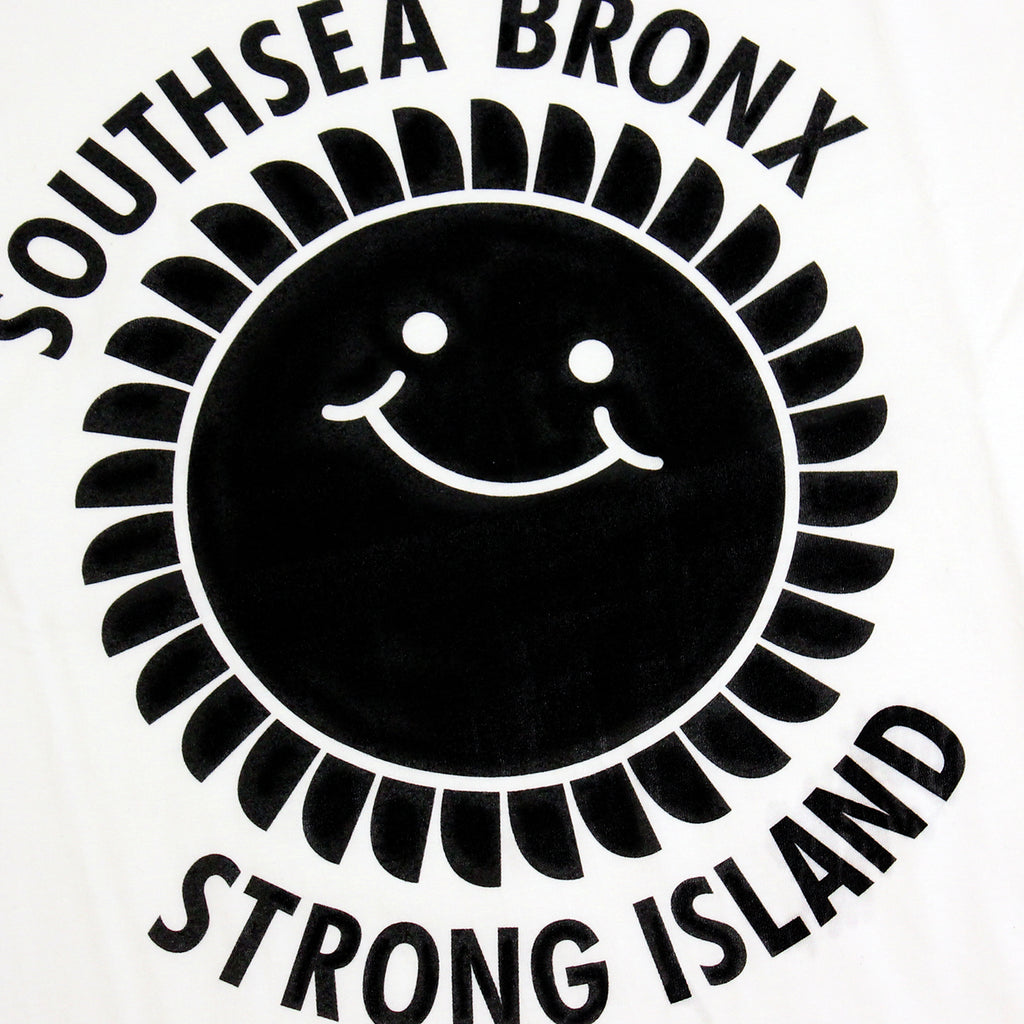 Southsea Bronx Strong Island T Shirt in Black on White by Bored of Southsea - Print