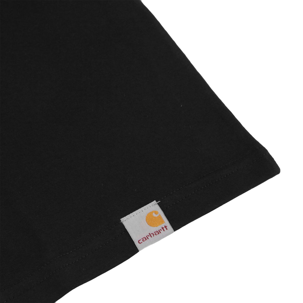 Carhartt World Party T Shirt in Black / White - Label
