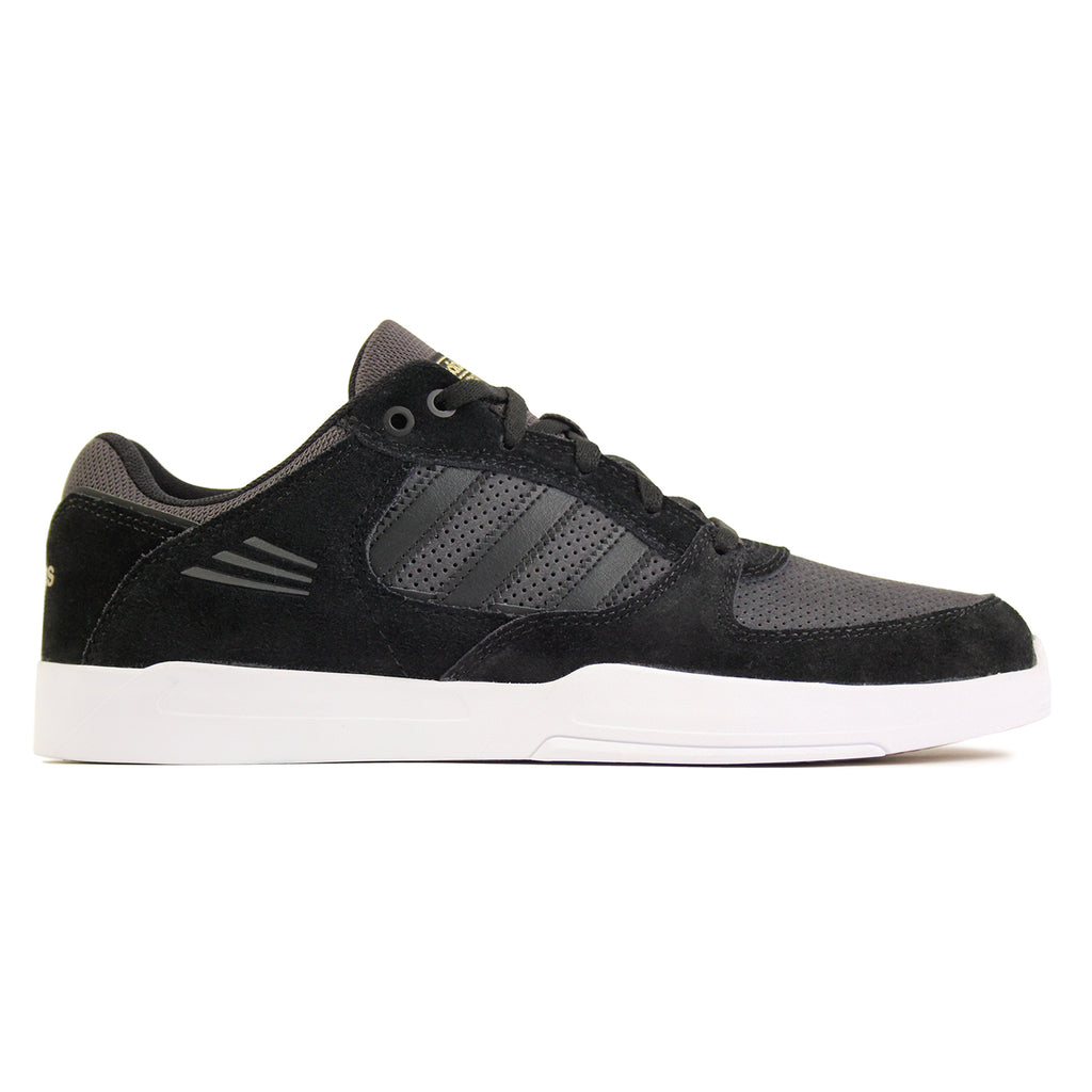 Adidas Skateboarding Tribute ADV Shoes in Core Black/Solid Grey/White