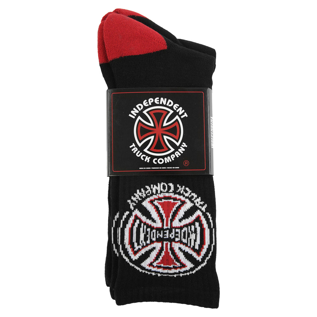 Independent Trucks Truck Co. Socks (2 Pairs) in Black - Package
