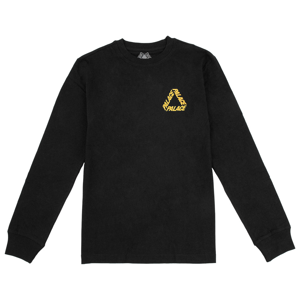 Palace P 3 L/S T Shirt in Black / Yellow