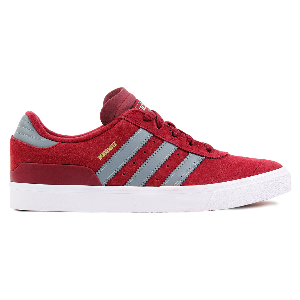 Adidas Skateboarding Busenitz Vulc Shoes in Collegiate Burgundy / CH Solid Grey / FTW White