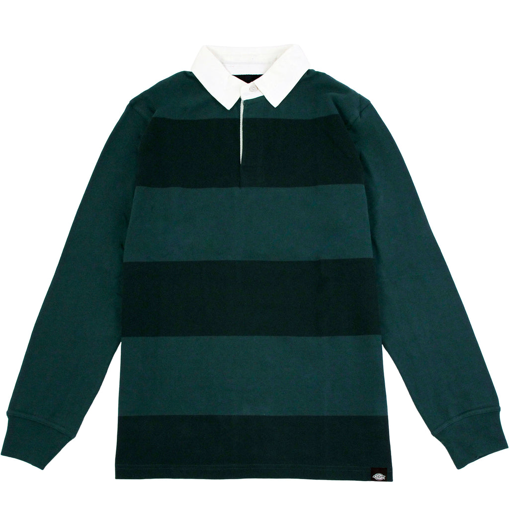 Dickies Cedar Key Rugby Shirt in Green Cables