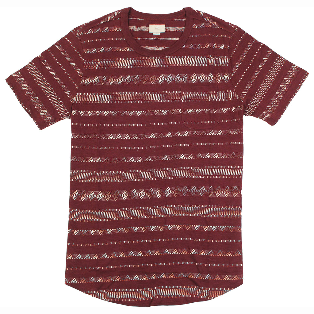 Obey Clothing Mateo T-Shirt in Burgundy