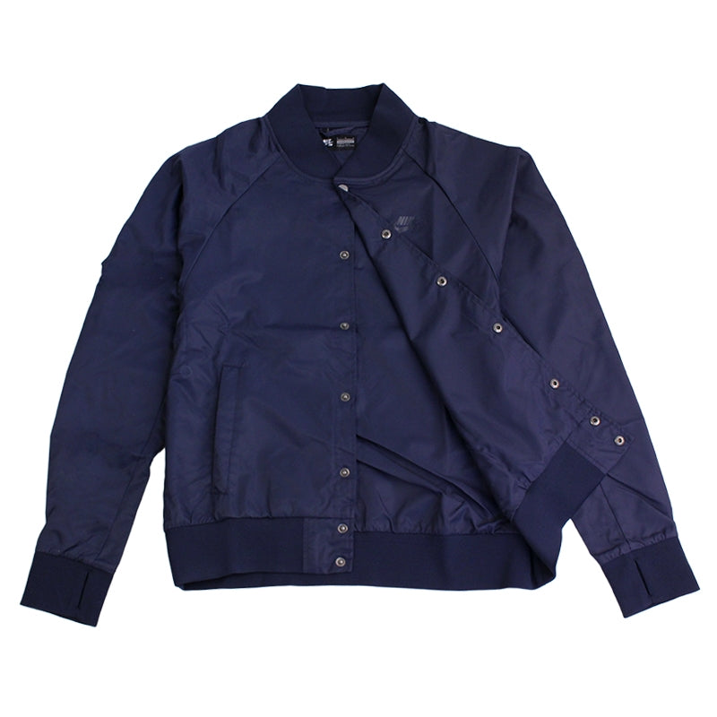 Nike SB Davis Satin Bomber Jacket in Obsidian - Open
