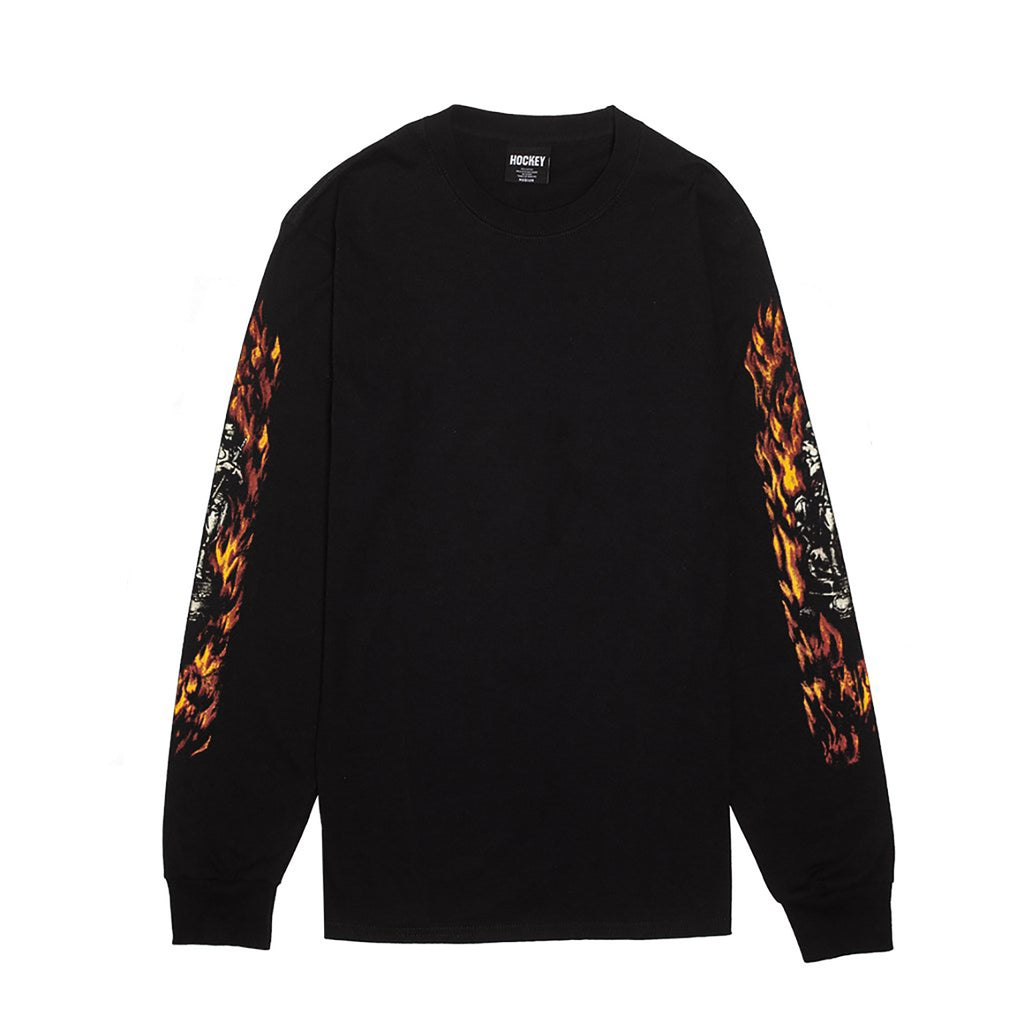 Hockey Skateboards L/S Joan Of Arc T Shirt in Black