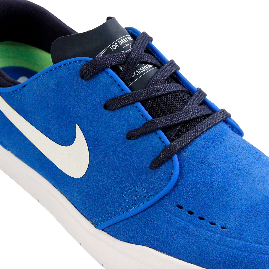 Nike SB Janoski Hyperfeel Shoes in Photo Blue / White-Obsidian - Detail