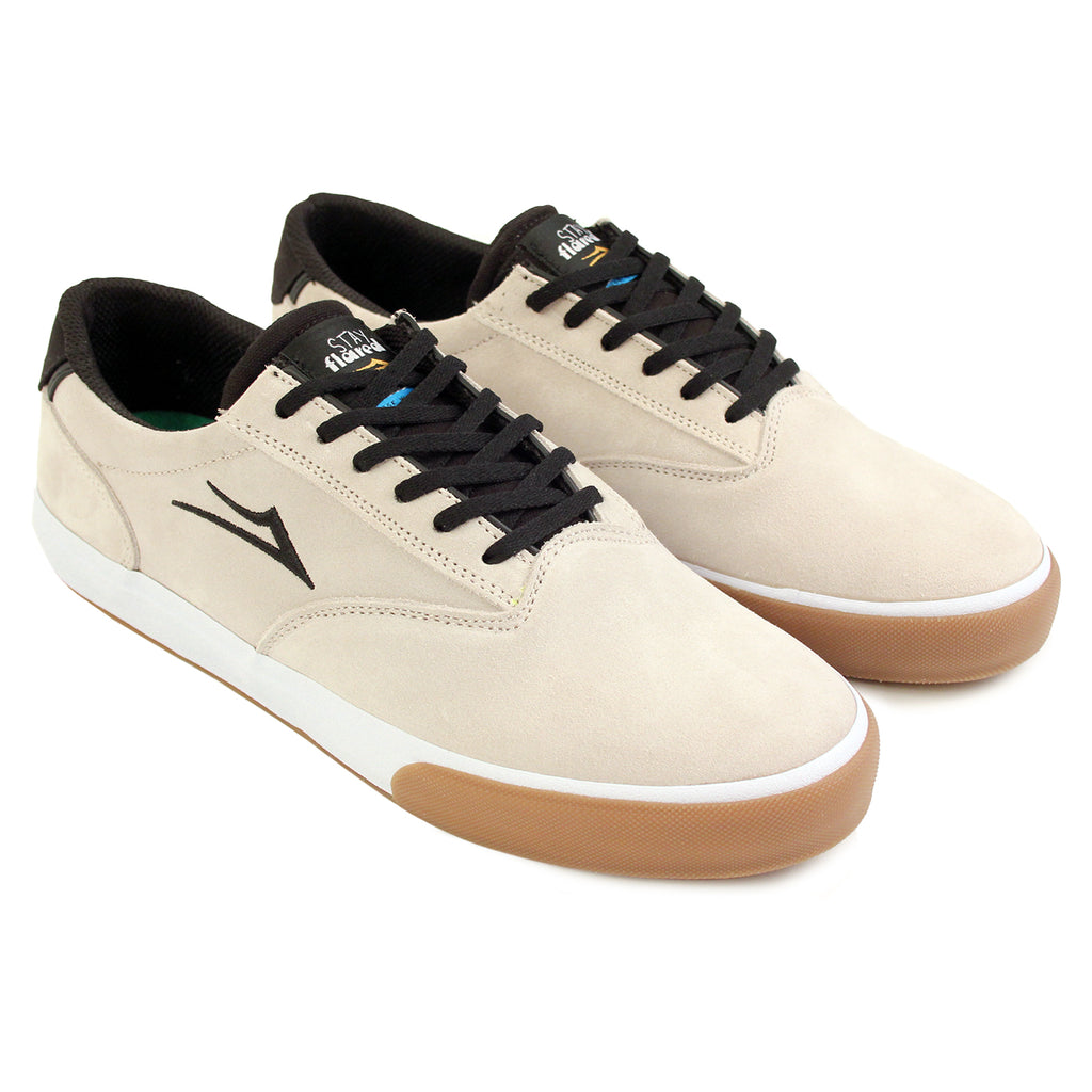 Lakai Guymar Stay Flared in White / Gum Suede - Pair