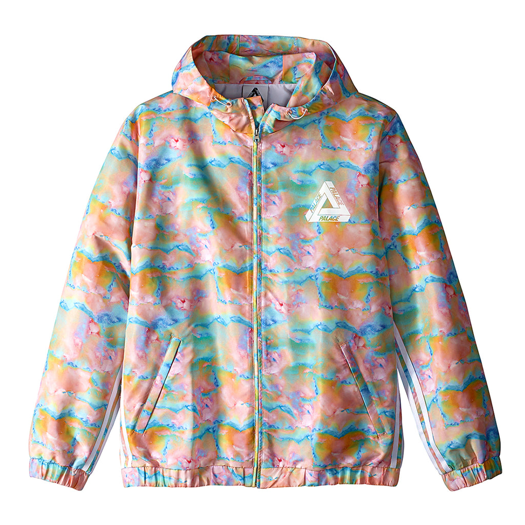 Palace x Adidas Hooded Bomber Jacket in Multi Colour / White - Front