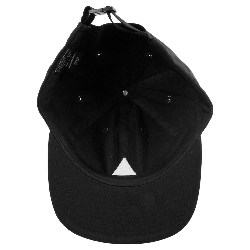 HUF x Obey 6 Panel Cap in Black - Inside