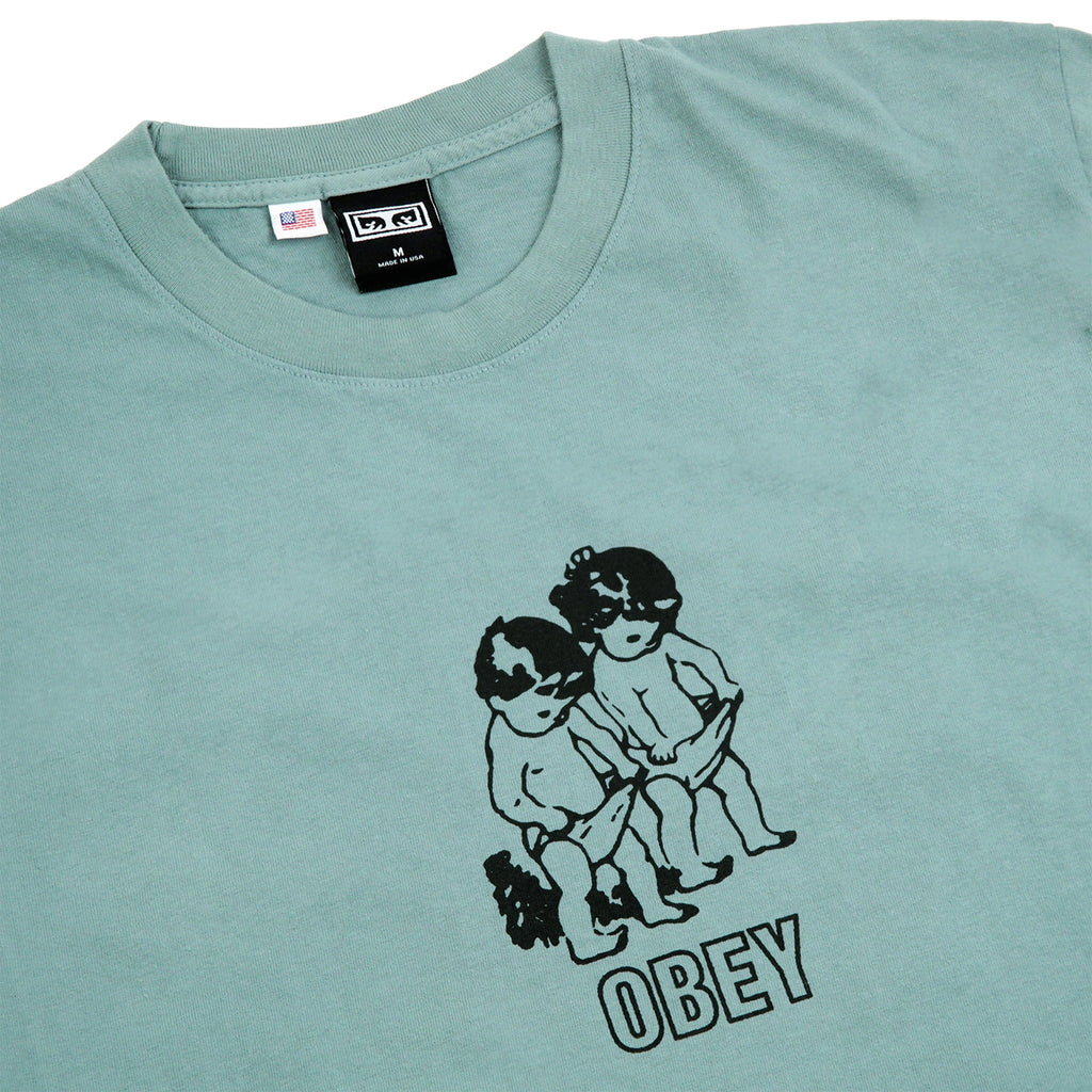 Obey Clothing Curious Kiddo's in Atlantic Green - Detail