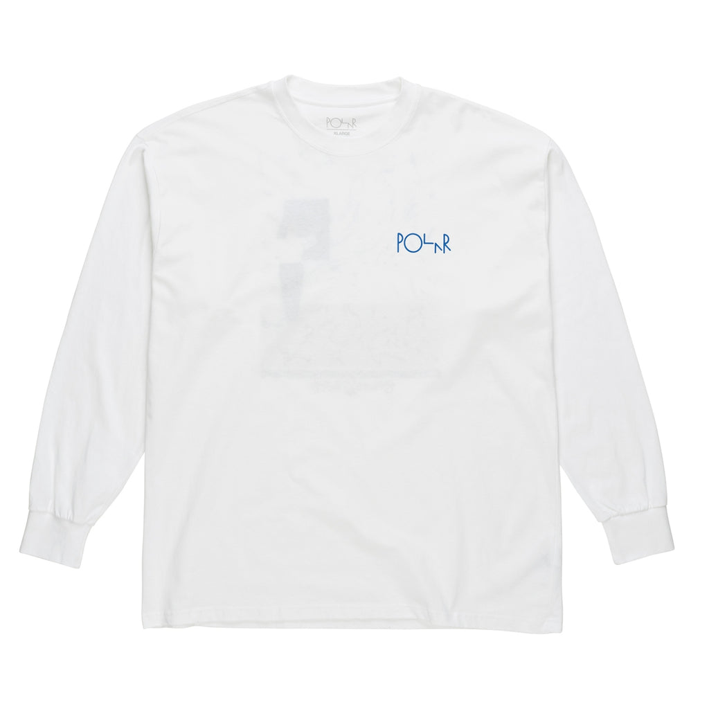 Polar Skate Co Hanging Painting L/S T Shirt in White