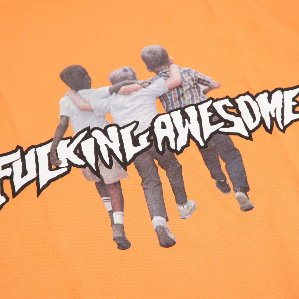 Fucking Awesome Friends T Shirt in Peach - Print