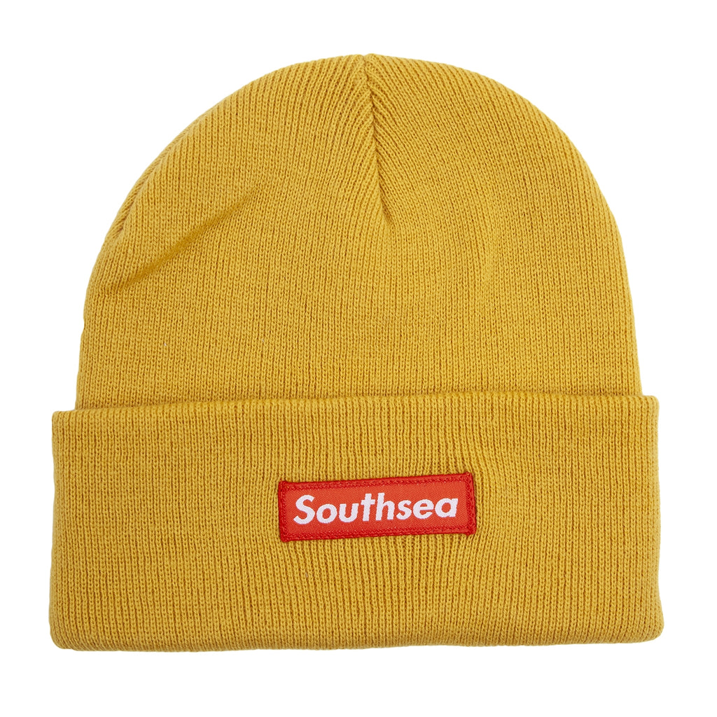 "Bored of Southsea ""Southsea"" Beanie in Mustard"