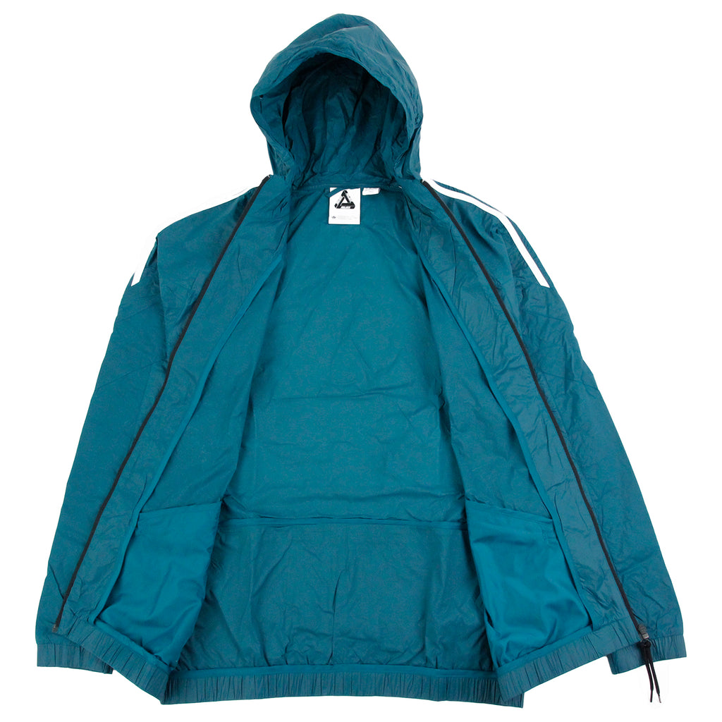 Palace x Adidas Jacket in Surf Petrol S15 - Open