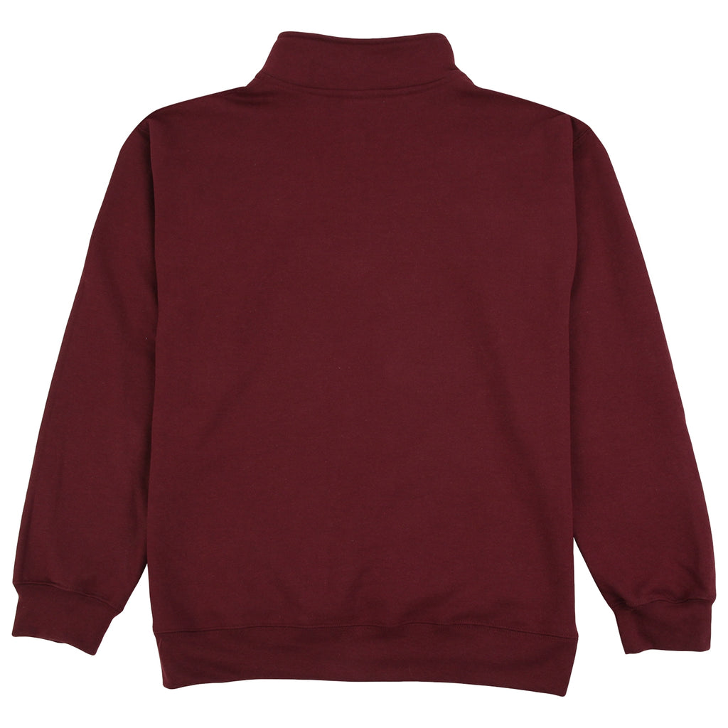 Signature Clothing Classic Logo Embroidered 1/4 Zip in Maroon - Back