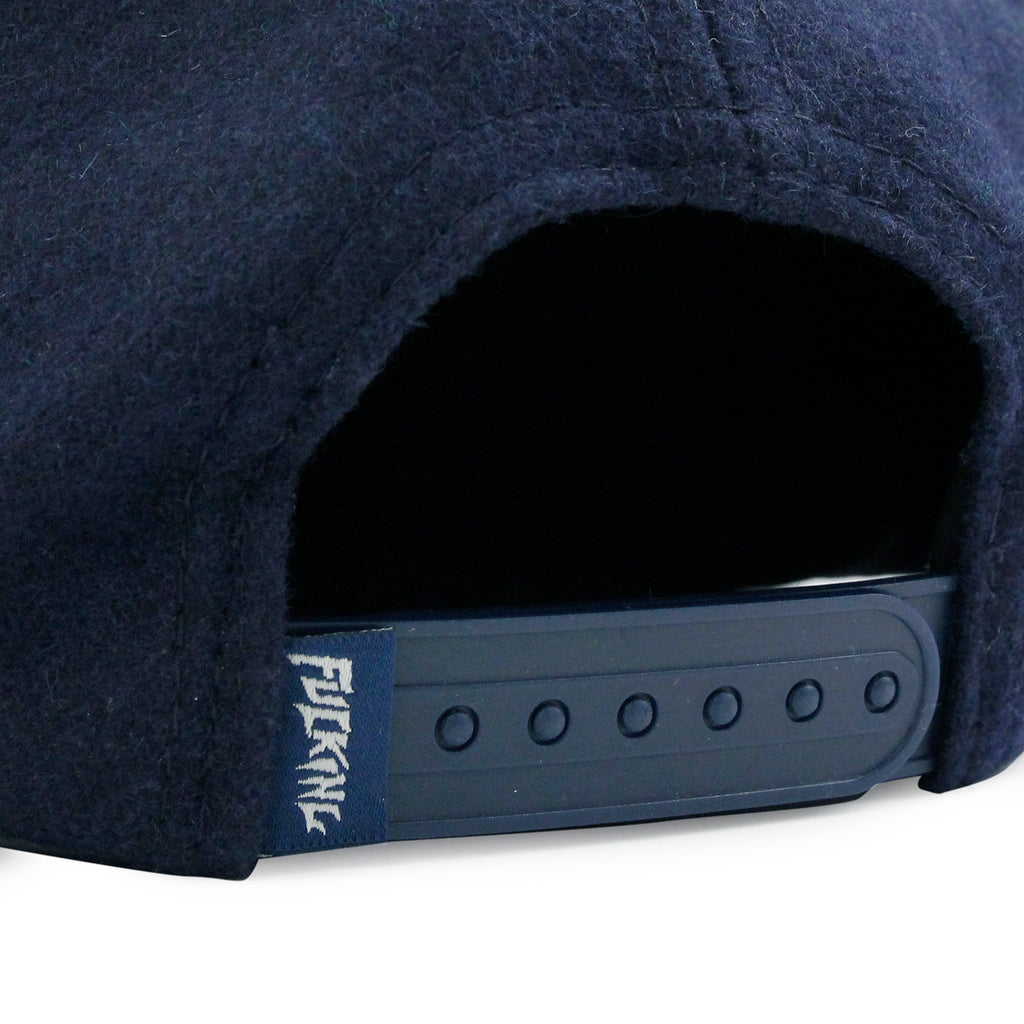 Fucking Awesome Classic FA Logo Wool Snapback Cap in Navy - Snap Closure