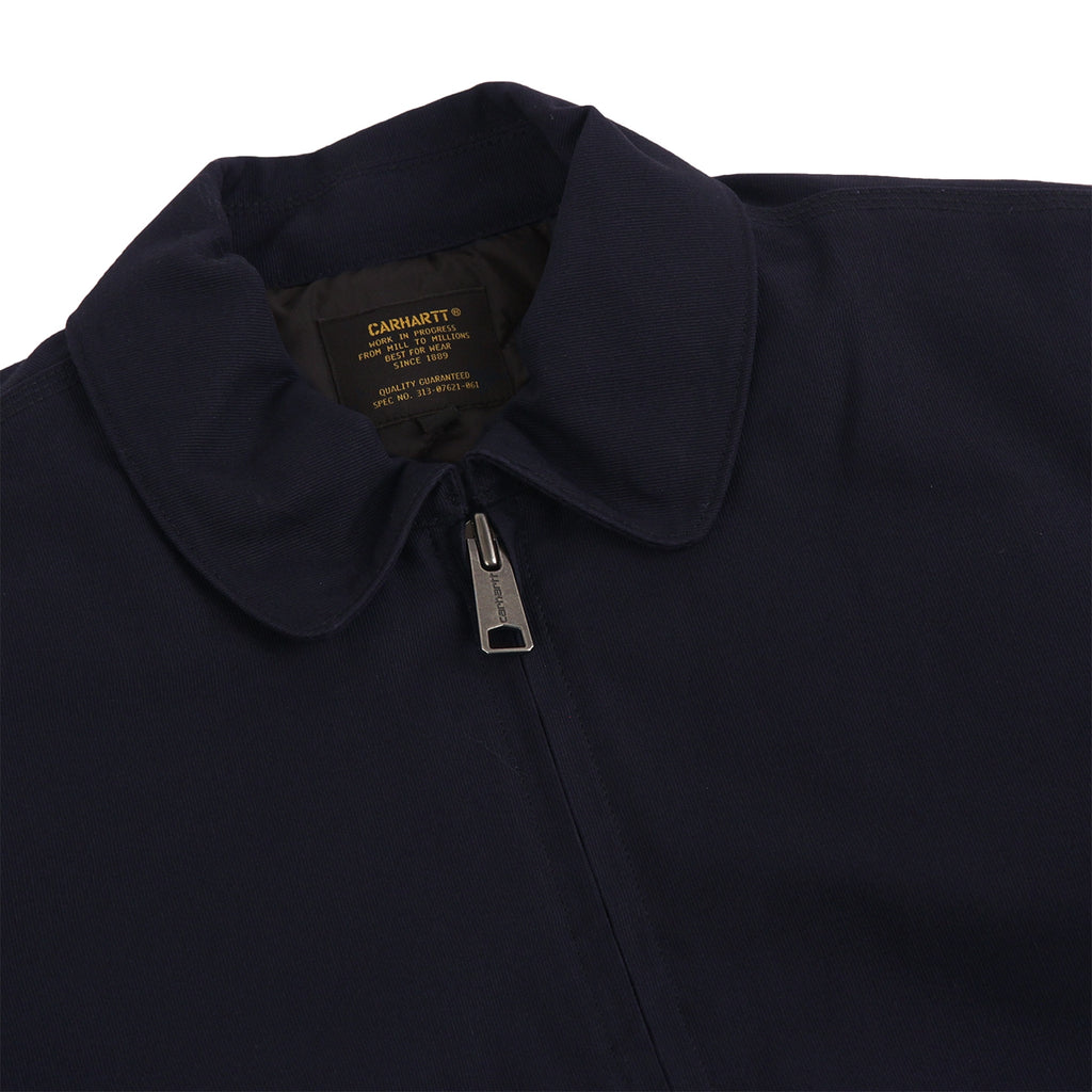Carhartt Aviator Jacket in Dark Navy - Detail