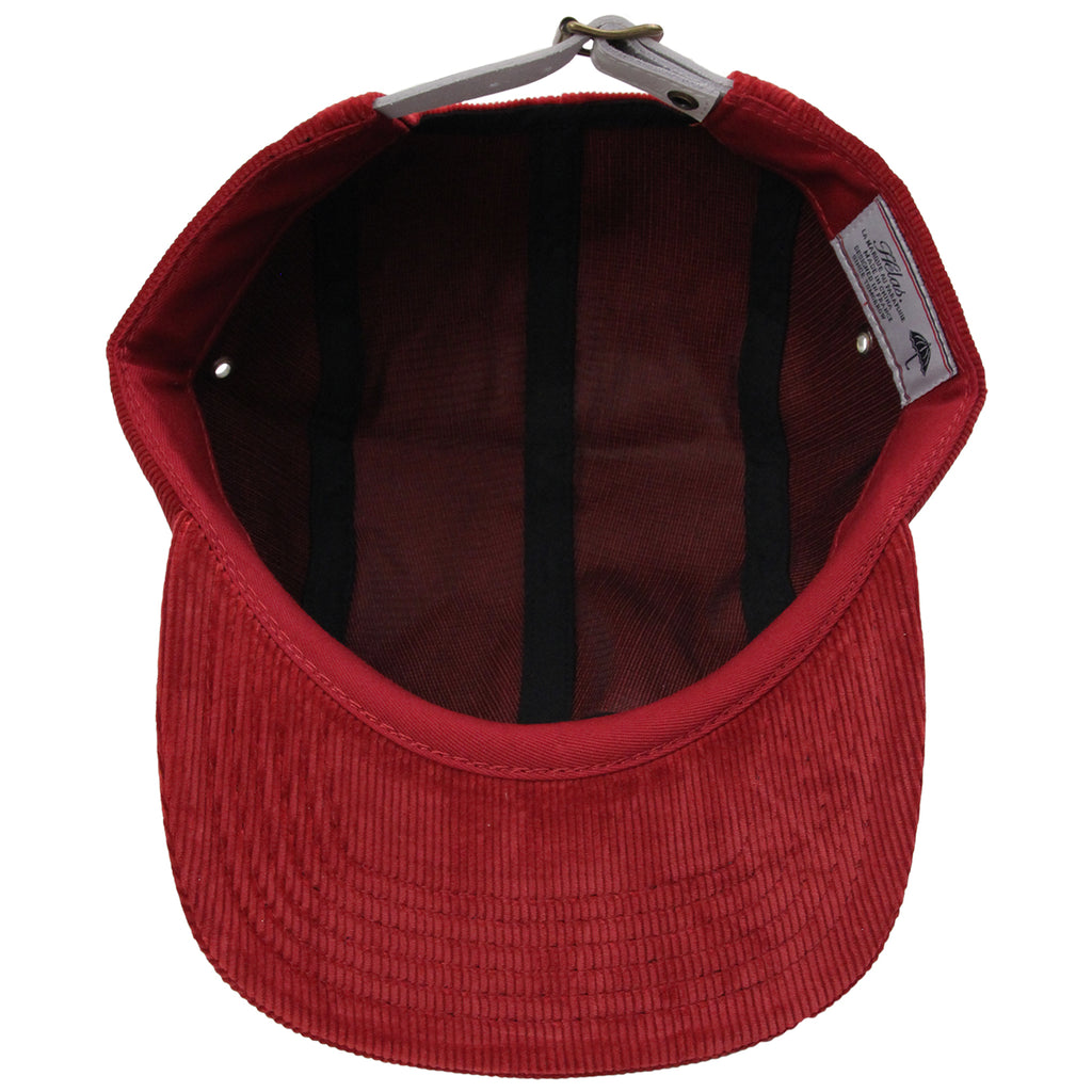 Helas Sunday 5 Panel Cap in Burgundy - Inside