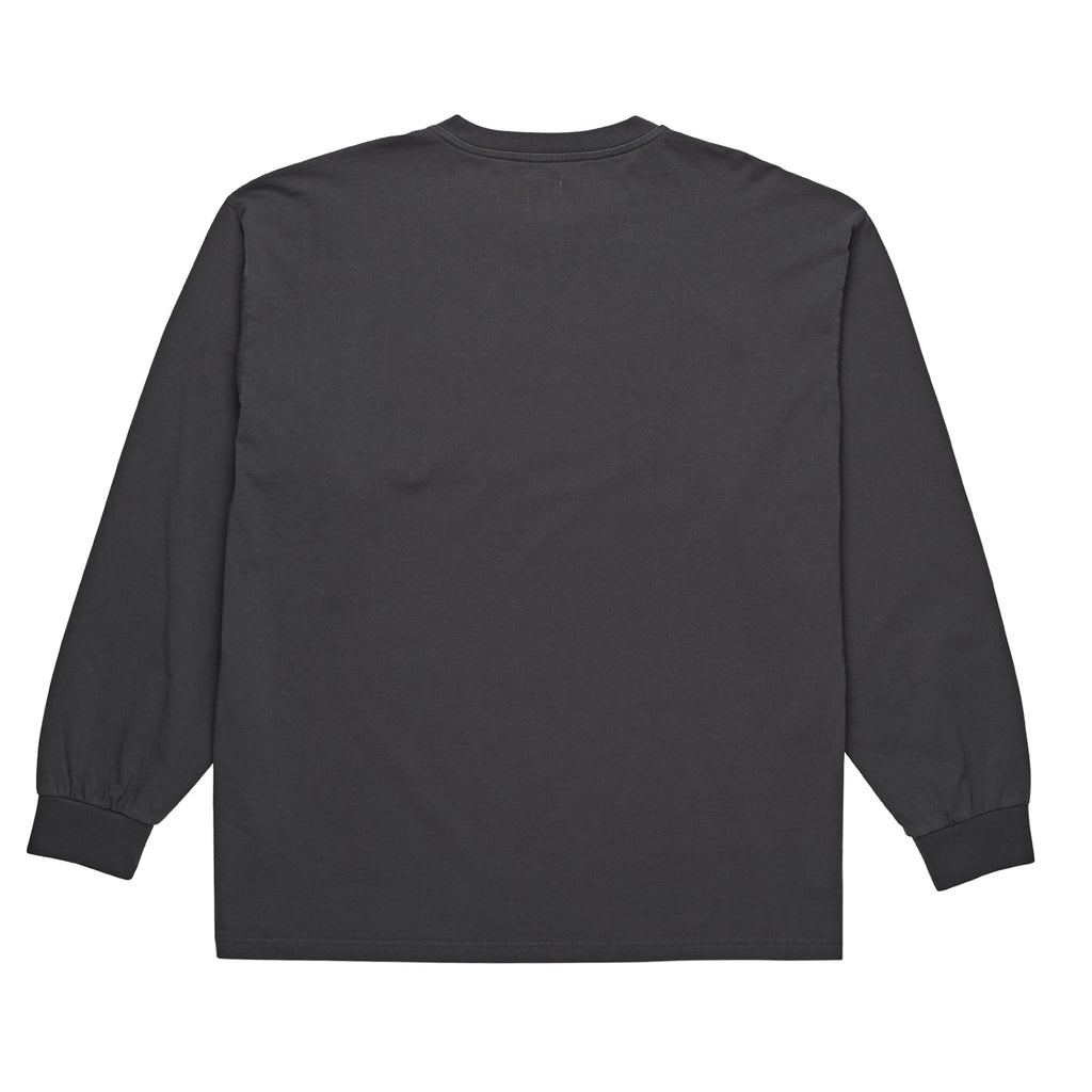 Polar Skate Co Garment Dyed Pocket L/S T Shirt in Black - Back