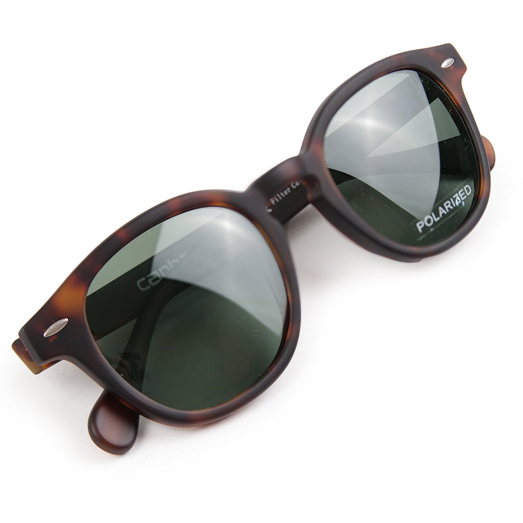 Carhartt Windsor Sunglasses in Tortoise Matte / Green - Detail