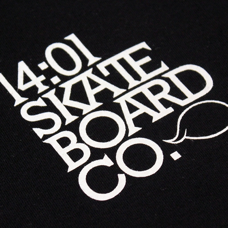 14:01 Skateboard Co BACK2BASICS T Shirt in Black - Print