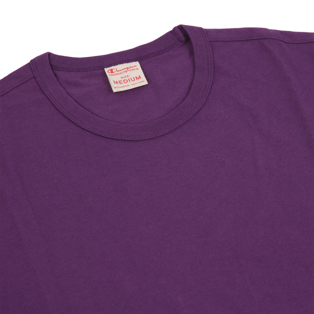 Champion Reverse Weave Classic T Shirt in Purple Violet - Detail