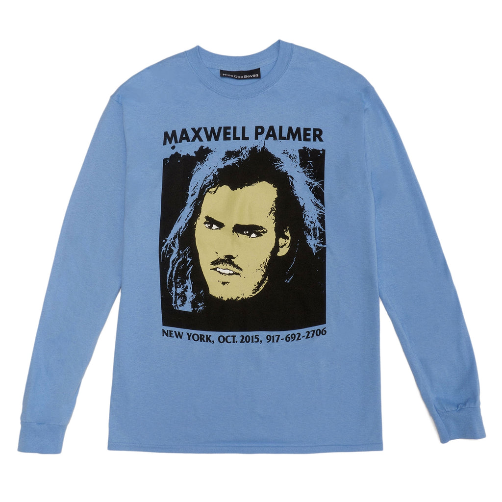 Call Me 917 Maxwell Palmer L/S T Shirt in Blue