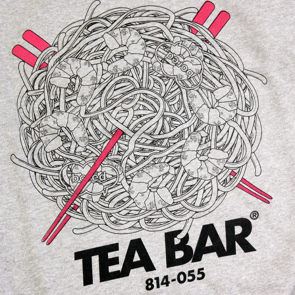 Bored of Southsea Tea Bar Sweatshirt in White / Hot Pink - Print