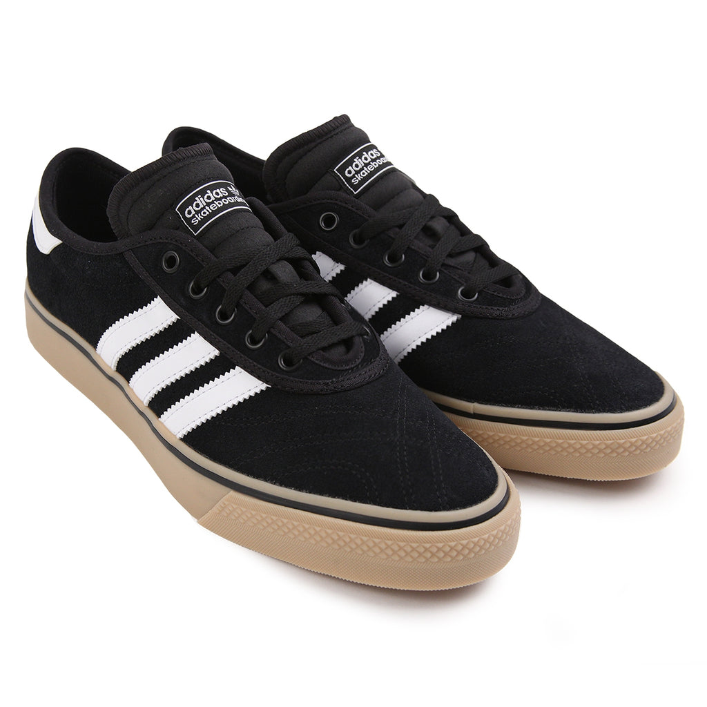 Adidas Skateboarding Adi Ease Premiere Shoes in Core Black / FTW White / Gum - Pair