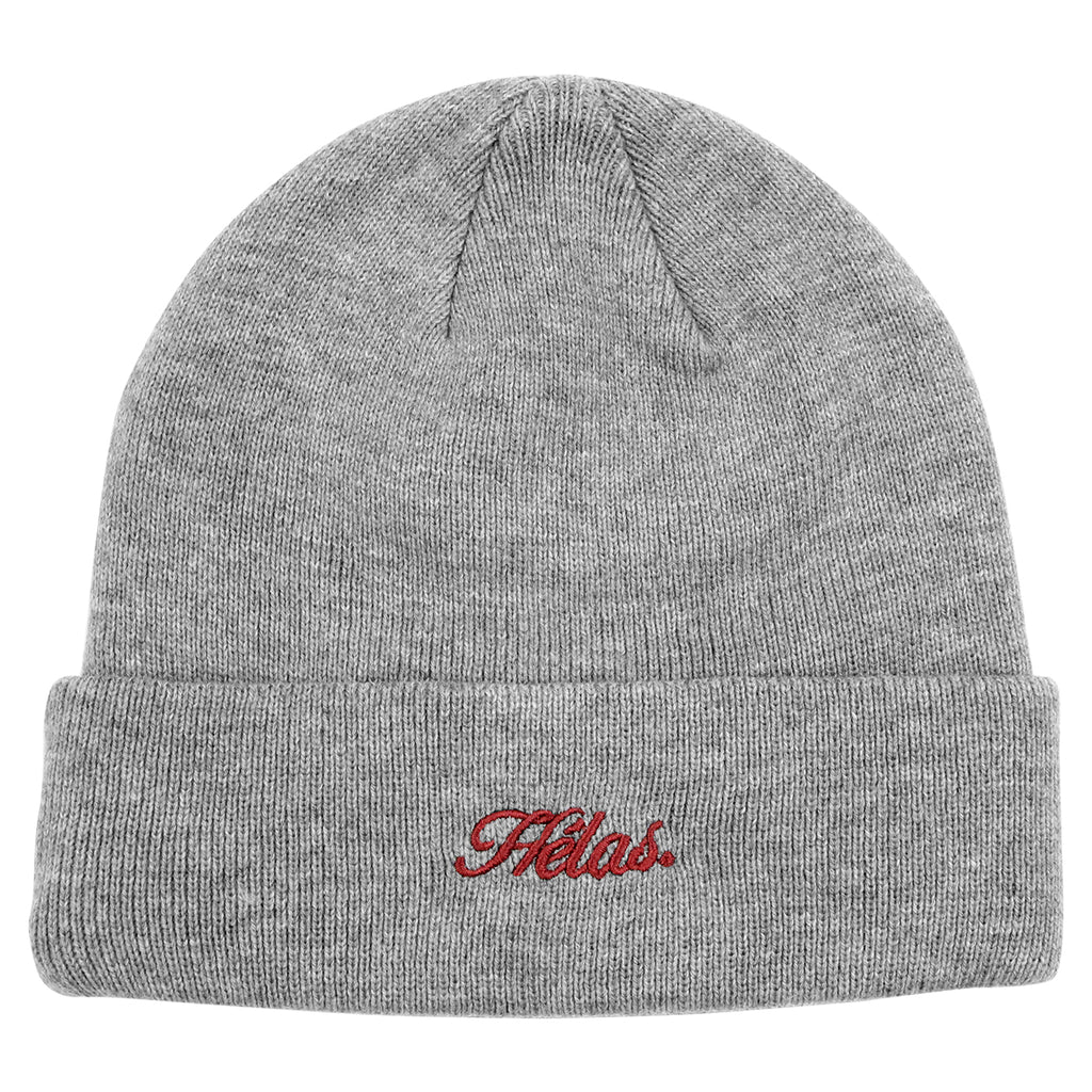 Helas Embroidered Beanie in Grey