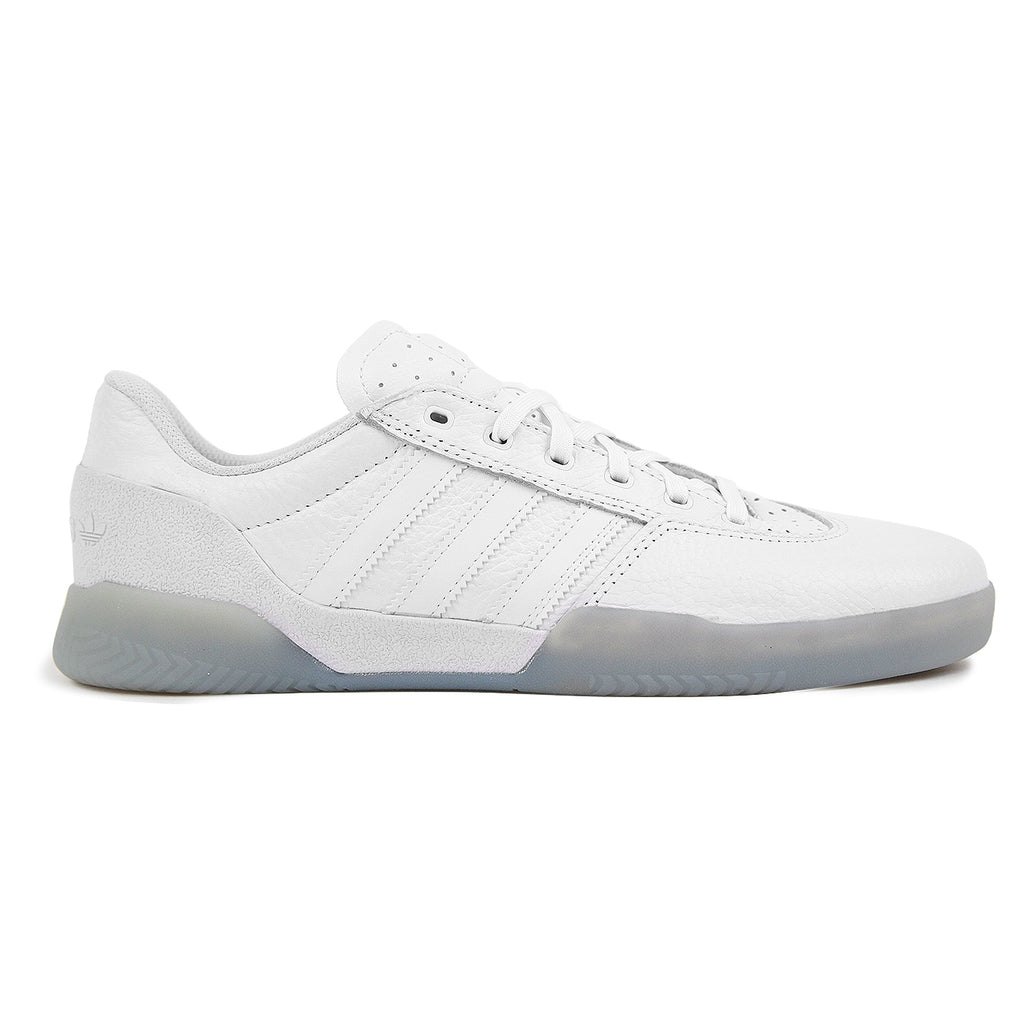 Adidas Skateboarding City Cup Shoes - White / White / Gold Metallic