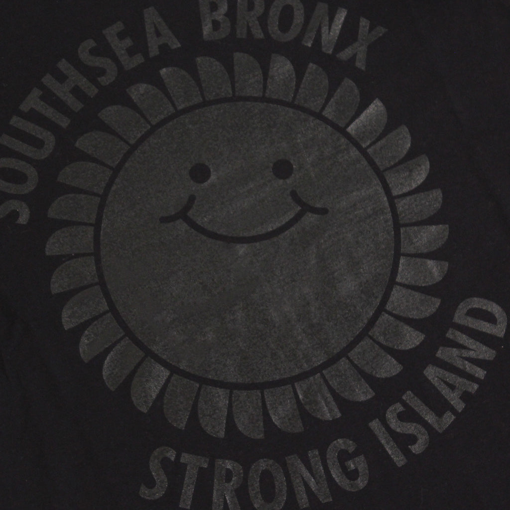 Southsea Bronx Strong Island Tank in Black on Black by Bored of Southsea - Print