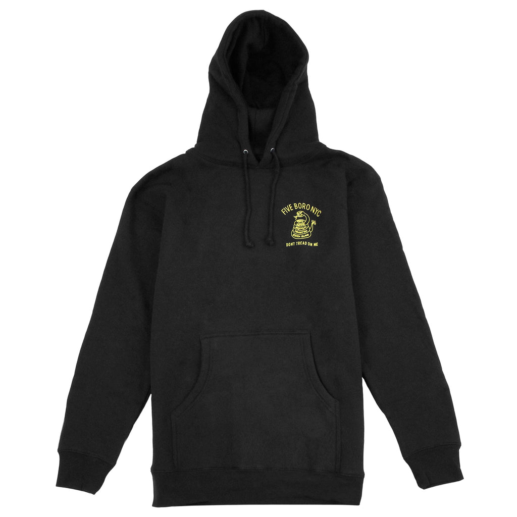 5Boro Don't Tread On Me Hoodie in Black / Yellow - Front